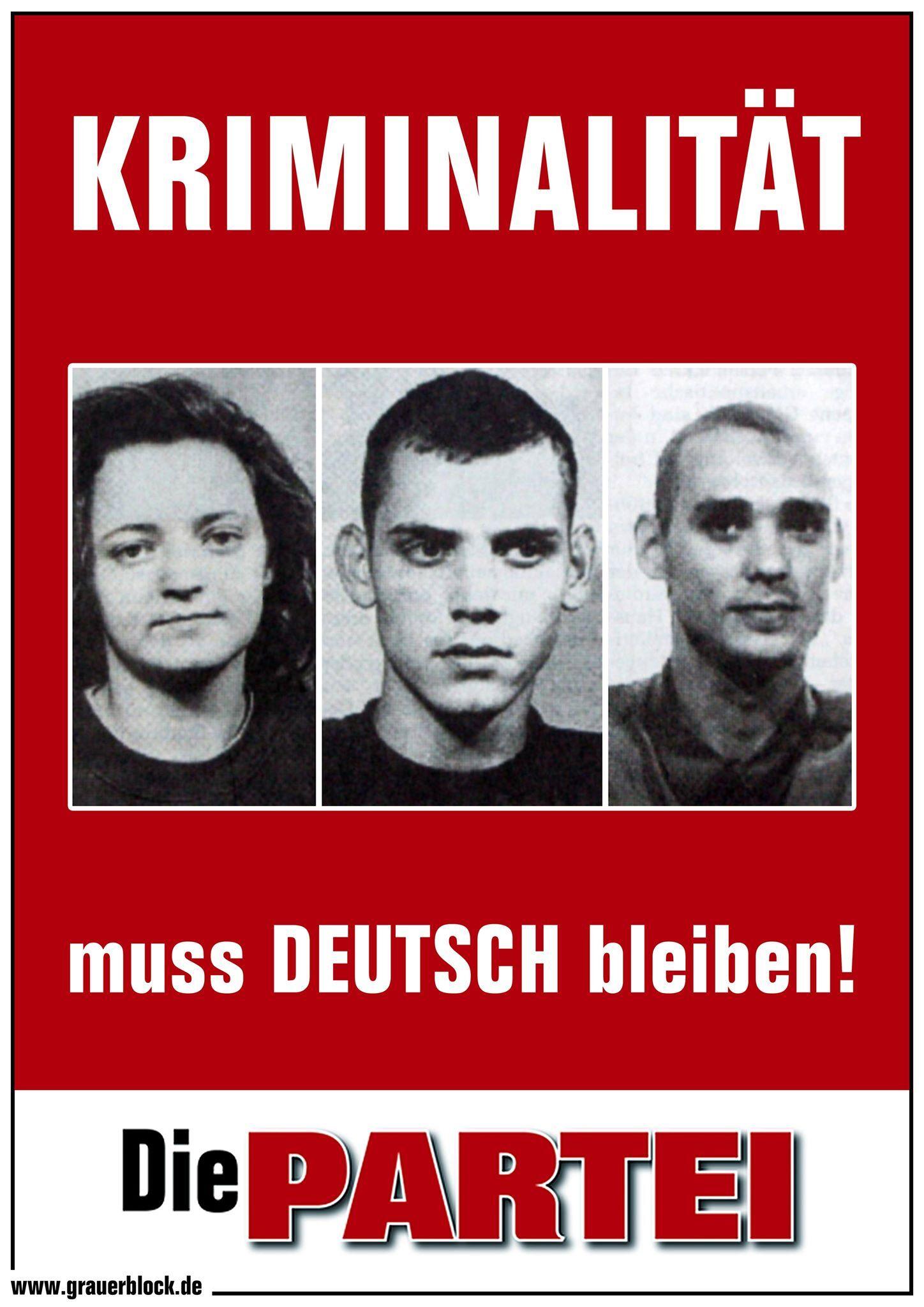 Kundgebung: Kriminalität muss deutsch bleiben!