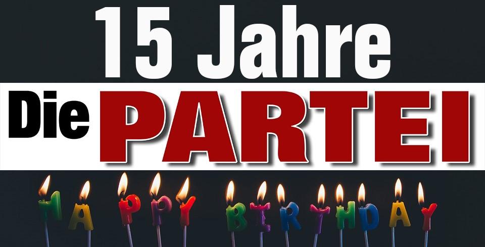Jubeldemo: 15 Jahre Die PARTEI